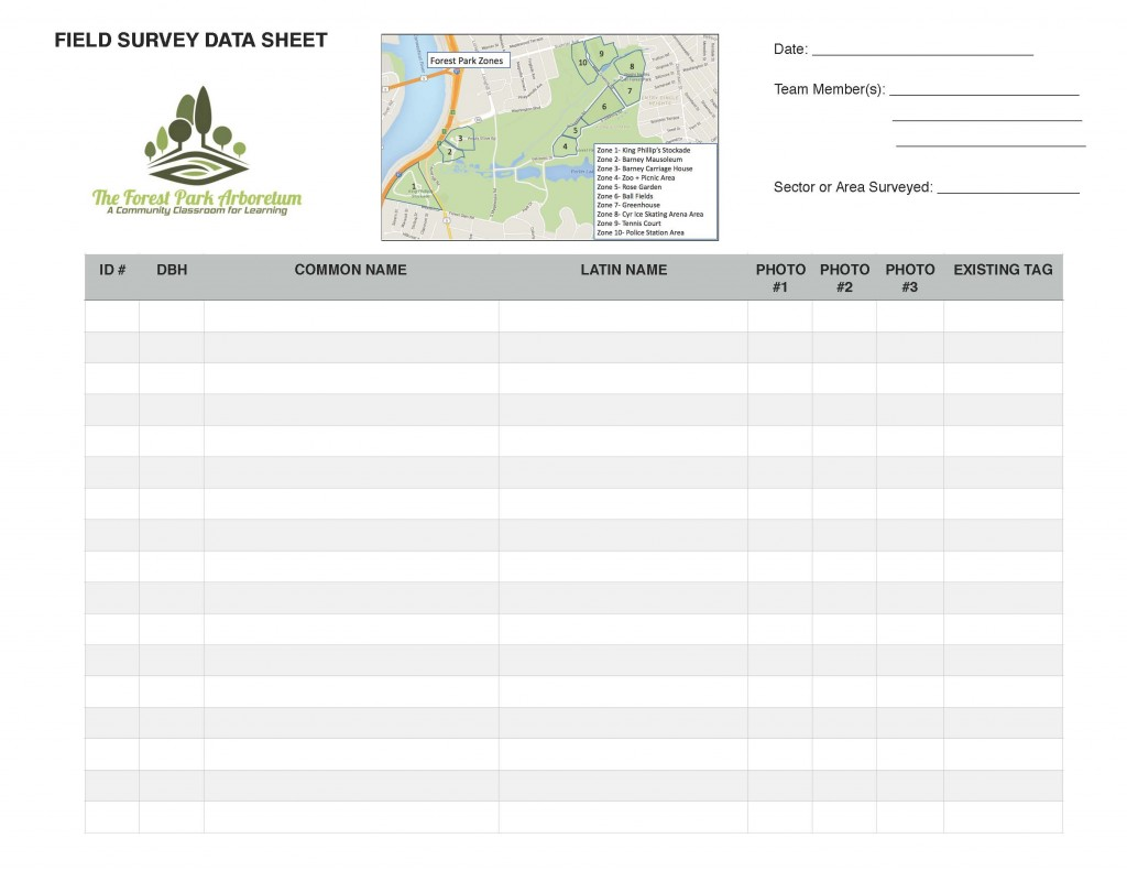 Tree Survey Sheet